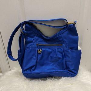 Travelon Royal Blue and Coral Bag